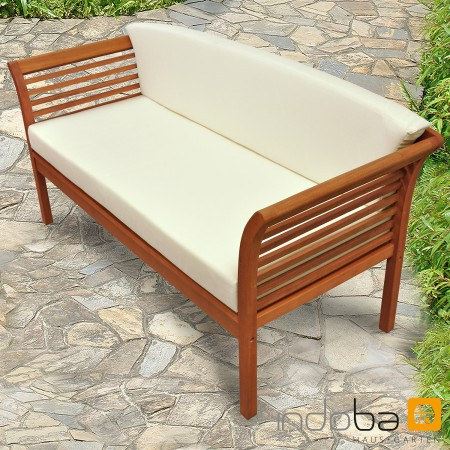 gartensofa gartenbank lounge bank mit auflage gartenm bel holz indoba samoa. Black Bedroom Furniture Sets. Home Design Ideas
