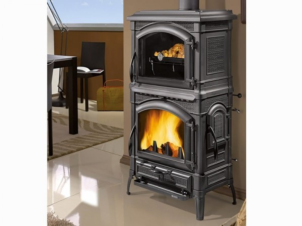 ofen kaminofen holzofen kachelofen kamin la nordica 39 isotta con forno 39 ebay. Black Bedroom Furniture Sets. Home Design Ideas