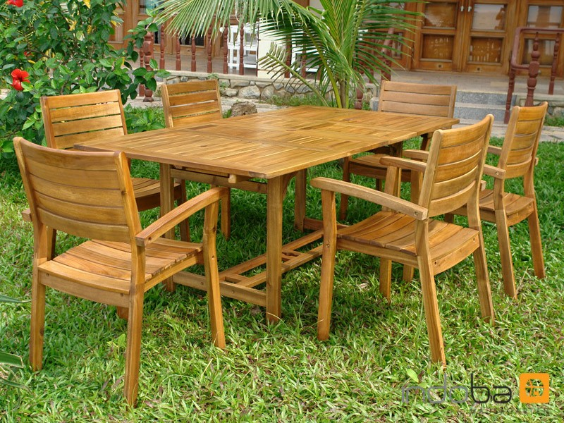 gartenm bel gartenset sitzgruppe essgruppe garnitur set 7tlg holz w teak indoba. Black Bedroom Furniture Sets. Home Design Ideas
