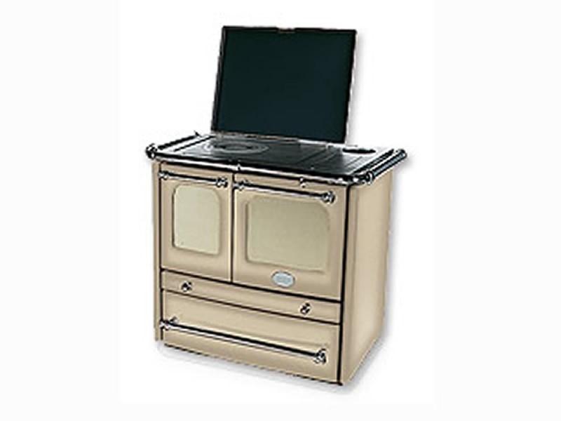 k chenofen la nordica 39 sovrana 39 cappuccino herd ofen k chenherd dauerbrandofen ebay. Black Bedroom Furniture Sets. Home Design Ideas