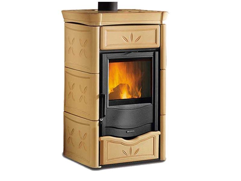 kaminofen mit scheibensp lung selbstschlie ender t r la nordica nicoletta ebay. Black Bedroom Furniture Sets. Home Design Ideas