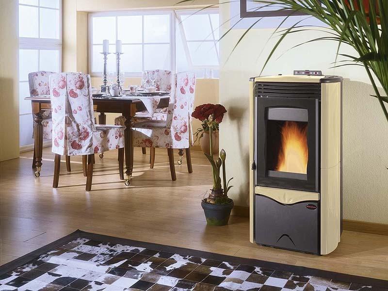 pelletofen 8 7 kw pelettheizung heizofen kaminofen. Black Bedroom Furniture Sets. Home Design Ideas