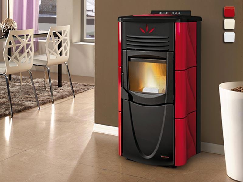 pelletofen 7 kw extraflame graziosa lux kaminofen wasserlos pellet kachelofen ebay. Black Bedroom Furniture Sets. Home Design Ideas