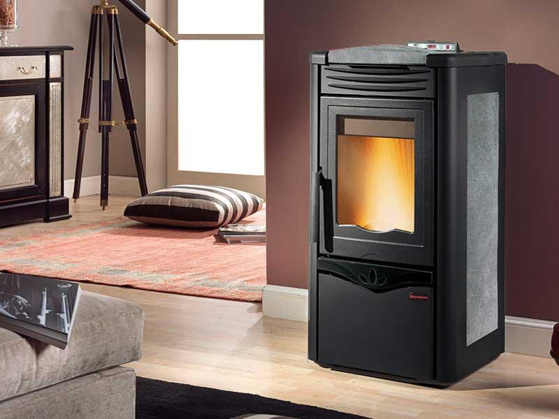 pelletofen 10 5 kw extraflame irina kaminofen wasserlos pellet kachel display ebay. Black Bedroom Furniture Sets. Home Design Ideas