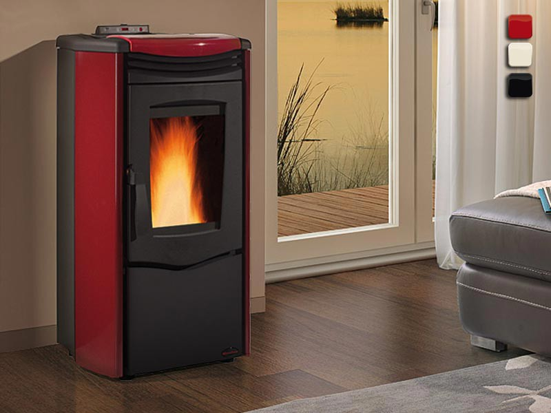 pelletofen 10 5 kw extraflame melinda steel air kaminofen wasserlos kachelofen ebay. Black Bedroom Furniture Sets. Home Design Ideas
