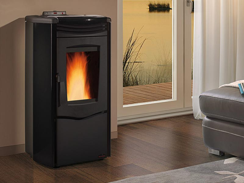 pelletofen 10 5 kw extraflame melinda steel air kaminofen. Black Bedroom Furniture Sets. Home Design Ideas