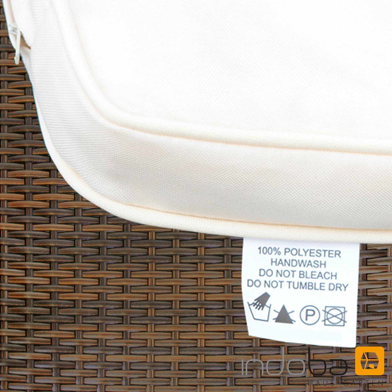 Gartenmöbel Set 5-teilig Valencia - Polyrattan - braun ...