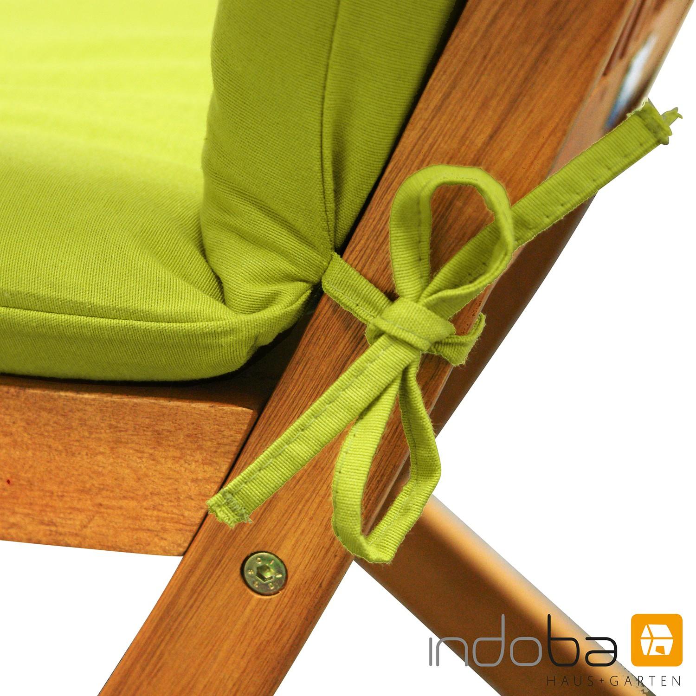 indoba sitzauflage hochlehner serie relax gr n. Black Bedroom Furniture Sets. Home Design Ideas