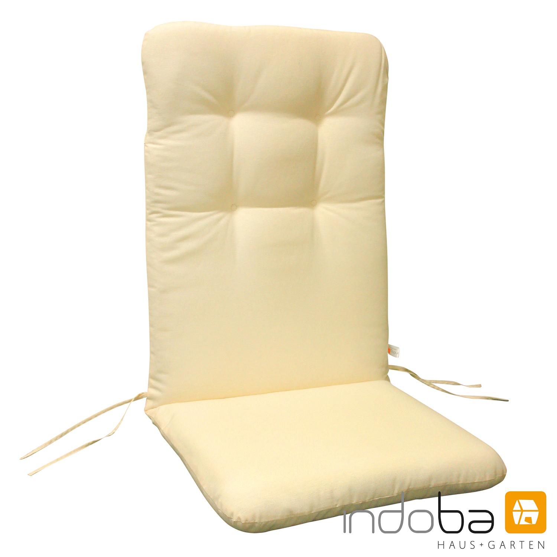 indoba sitzauflage hochlehner serie relax beige. Black Bedroom Furniture Sets. Home Design Ideas