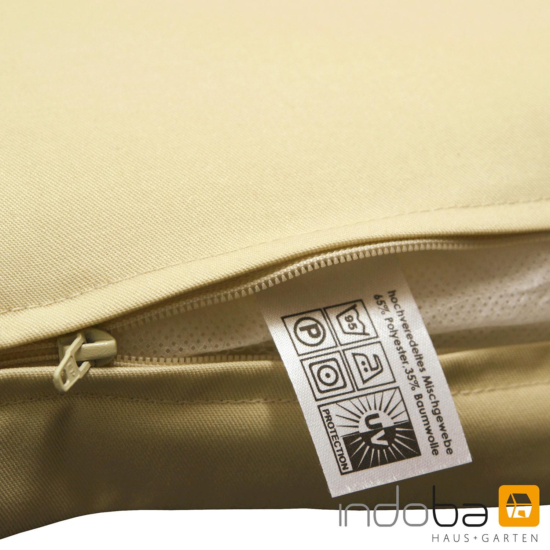 indoba sitzauflage hochlehner serie premium extra dick beige. Black Bedroom Furniture Sets. Home Design Ideas