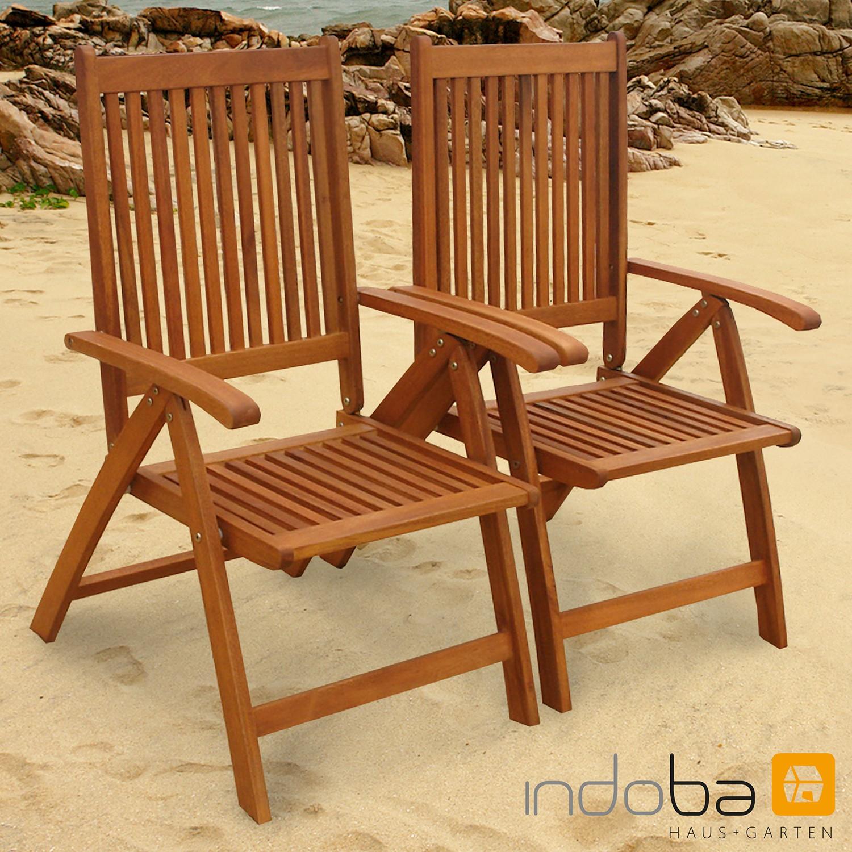 gartenstuhl versch modelle aus holz u a sun flair montana bali indoba ebay. Black Bedroom Furniture Sets. Home Design Ideas