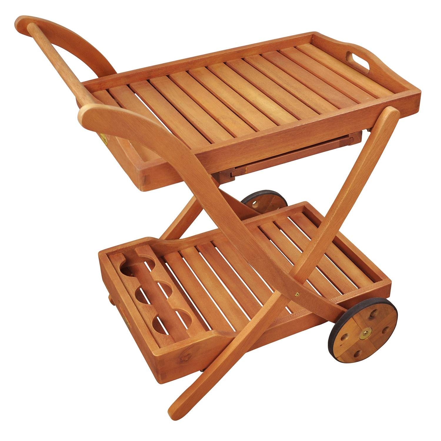 servierwagen beistellwagen trolley teewagen m tablett gartenm bel holz wie teak ebay. Black Bedroom Furniture Sets. Home Design Ideas