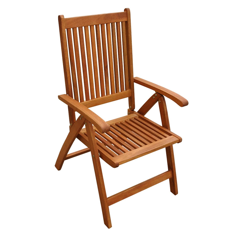 2 x gartenstuhl hochlehner aus holz 5 fach verstellbar und zusammenklappbar ebay. Black Bedroom Furniture Sets. Home Design Ideas