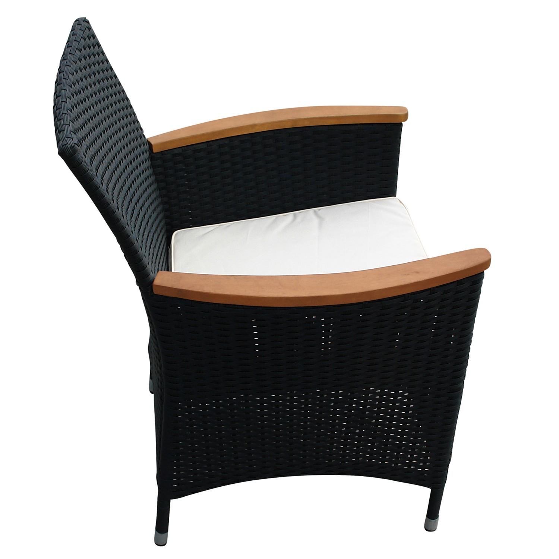 sitzgruppe gartenm belset gartengarnitur essgruppe 5 teilig holz polyrattan ebay. Black Bedroom Furniture Sets. Home Design Ideas