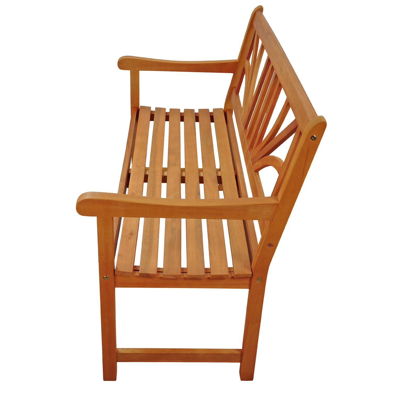 gartenbank sitzbank aus holz f r 2 personen ebay. Black Bedroom Furniture Sets. Home Design Ideas