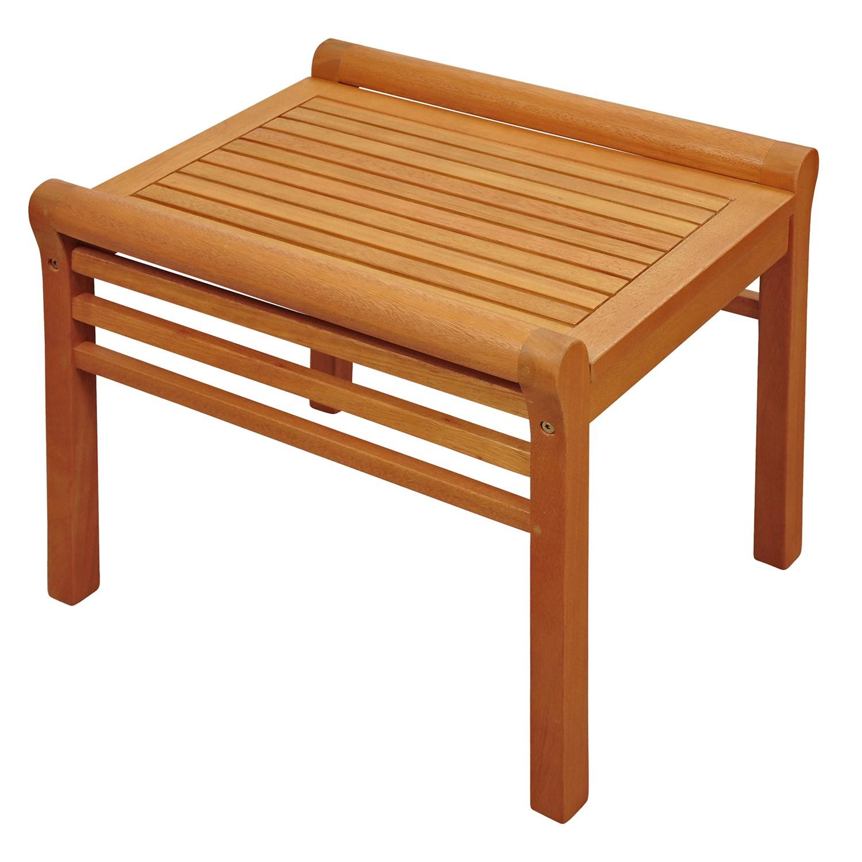 beistelltisch kleiner tisch aus holz 55 x 45 x 43 cm ebay. Black Bedroom Furniture Sets. Home Design Ideas