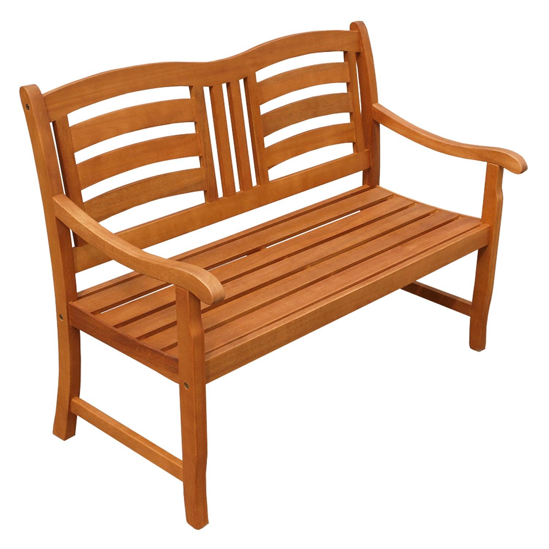 zweisitzer holzbank sitzbank gartenbank terrassenbank gartenm bel holz wie teak ebay. Black Bedroom Furniture Sets. Home Design Ideas