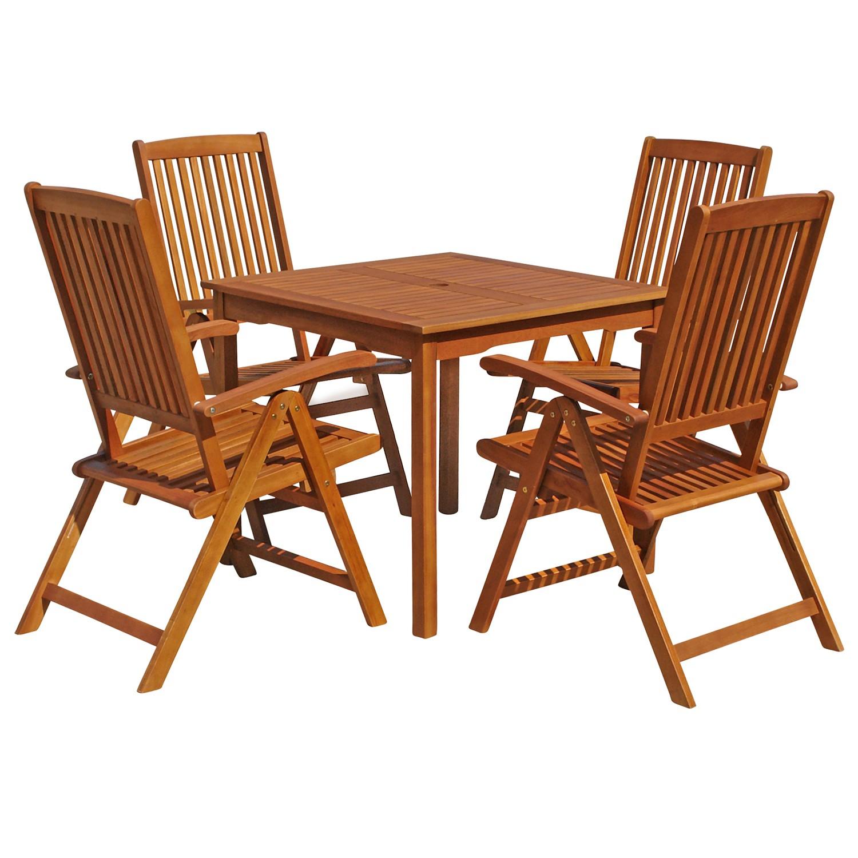 gartenm bel set quadratisch sitzgruppe f balkon terrasse hochlehner verstellbar ebay. Black Bedroom Furniture Sets. Home Design Ideas