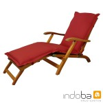 indoba - Polsterauflage Deck Chair Serie Premium - extra dick - Rot