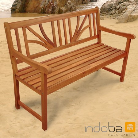 gartenbank sitzbank 2 5 sitzer aus holz serie lotus von indoba ebay. Black Bedroom Furniture Sets. Home Design Ideas