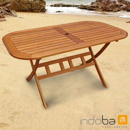 Gartenmöbel Set, Garnitur 7-tlg Holz, 6 Stühle + Tisch, Serie Bangor ...