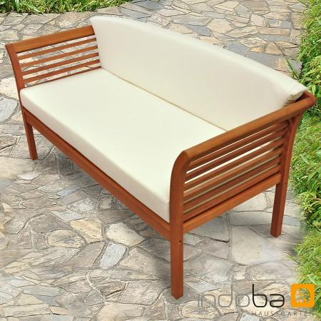 Gartenbank loungebank aus holz sofa mit auflage serie samoa von indoba 4260339185878 ebay - Gartensofa 3 sitzer ...