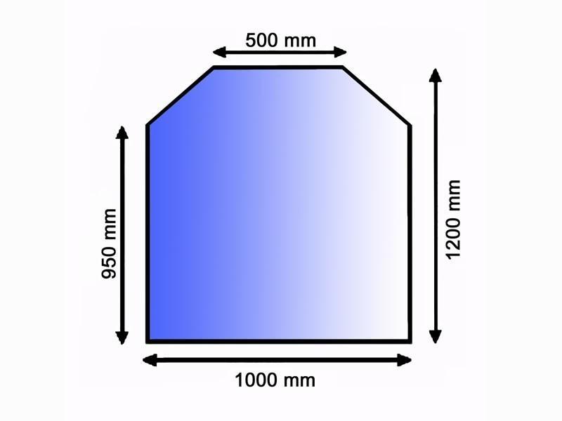 glas bodenplatte 20 mm facette unterlegplatte. Black Bedroom Furniture Sets. Home Design Ideas