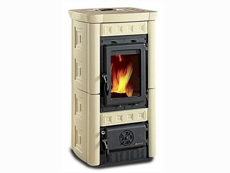 kaminofen brennraum gusseisen majolika keramik la nordica gaia pergamena ebay. Black Bedroom Furniture Sets. Home Design Ideas