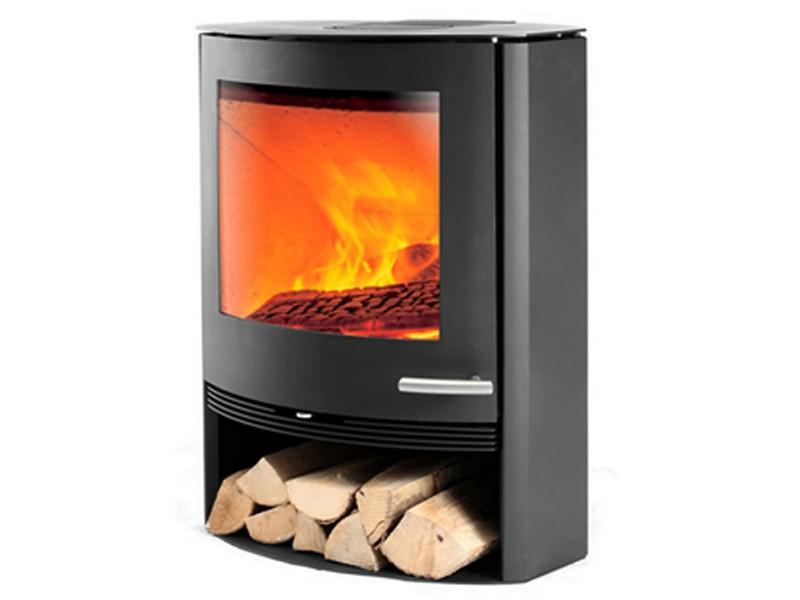 kaminofen holzofen in kompakter gr e gro er brennraum. Black Bedroom Furniture Sets. Home Design Ideas