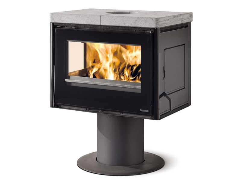 kaminofen seitenfenster gro e frontscheibe la nordica astrid speckstein 8022724550007 ebay. Black Bedroom Furniture Sets. Home Design Ideas