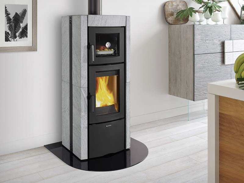 kaminofen 8 2 kw la nordica ester forno evo speckstein. Black Bedroom Furniture Sets. Home Design Ideas