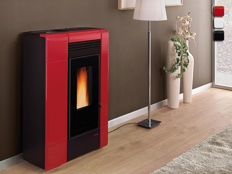 pelletofen 8 kw extraflame ilenia. Black Bedroom Furniture Sets. Home Design Ideas