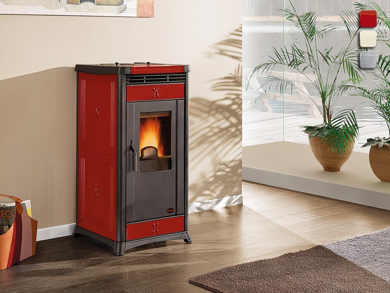 pelletofen 10 3 kw extraflame irma kaminofen wasserlos pellet kachelofen heizung ebay. Black Bedroom Furniture Sets. Home Design Ideas