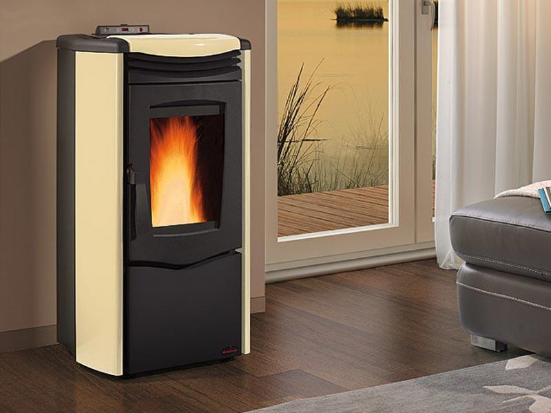 pelletofen 10 5 kw extraflame melinda steel air kaminofen wasserlos kachelofen ebay. Black Bedroom Furniture Sets. Home Design Ideas