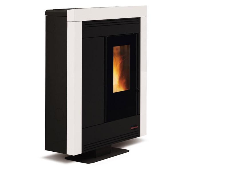 pelletofen 10 2 kw extraflame souvenir steel kaminofen wasserlos pellet kachel ebay. Black Bedroom Furniture Sets. Home Design Ideas